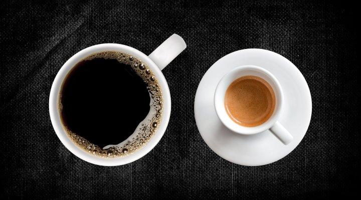 espresso over coffee