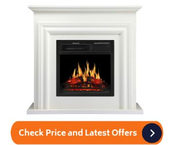JAMFLY Wood Electric Fireplace